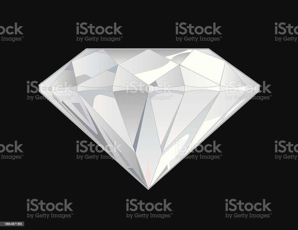 Vector Diamond Side View royalty-free stock vector art