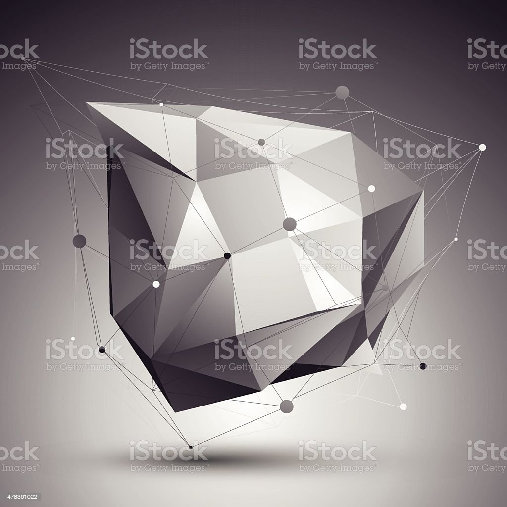 Vector Digital 3d Abstraction Lattice Geometric Template stock ...