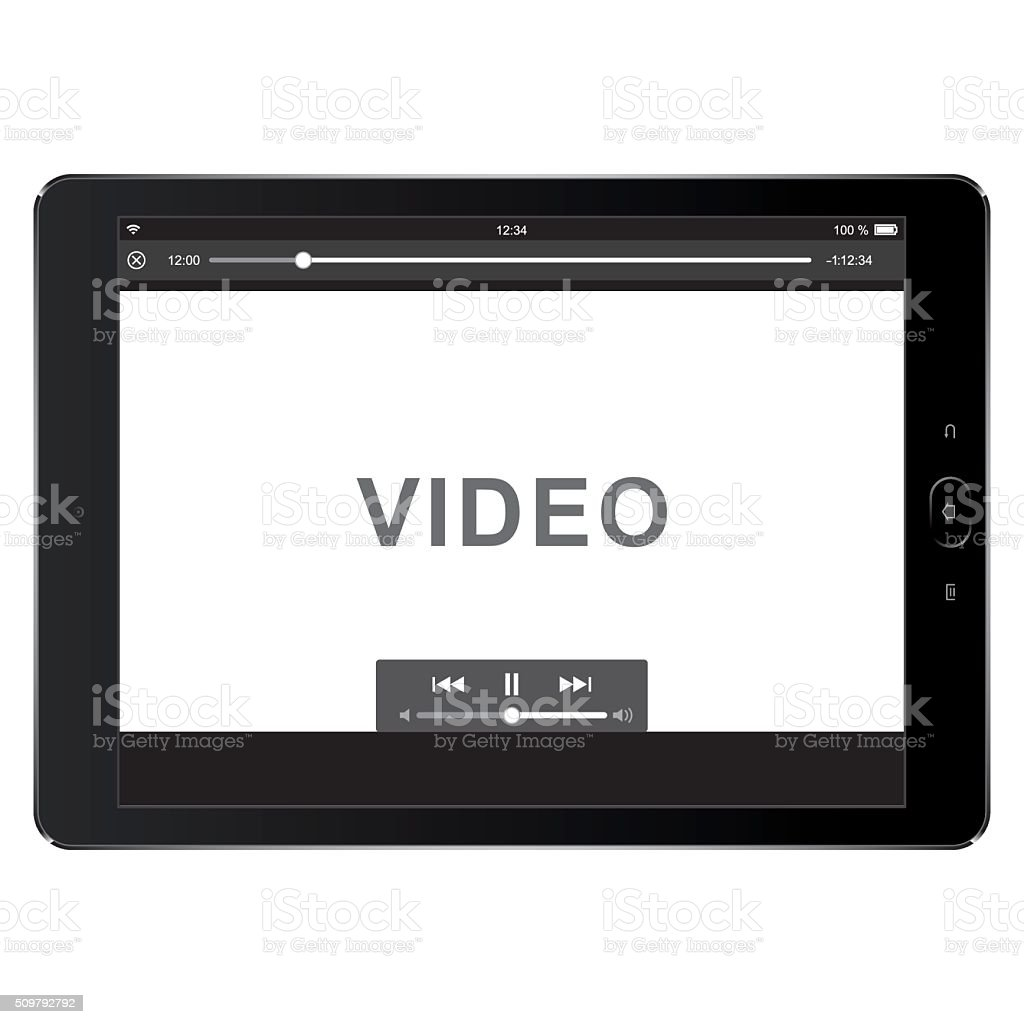 vector digital tablet template for video vector art illustration