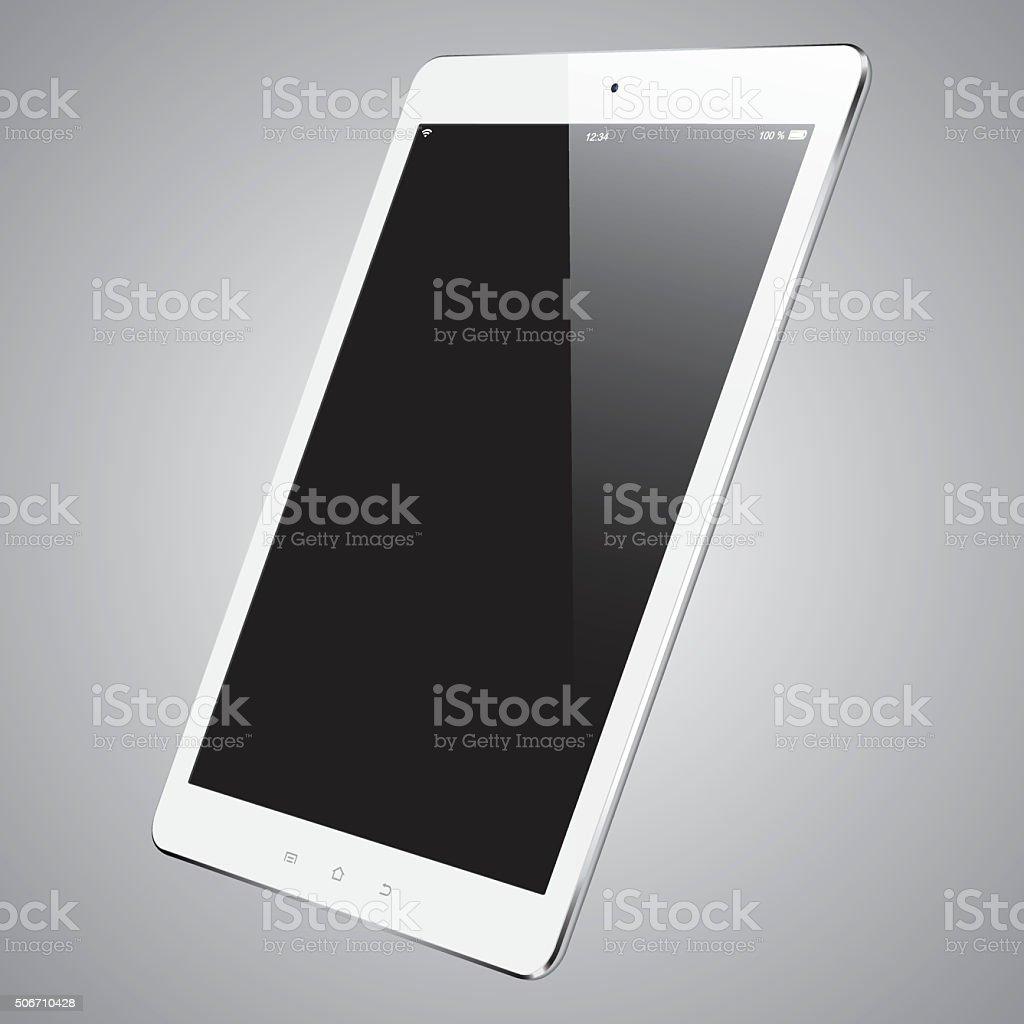 Vector digital tablet with blank screen vector art illustration