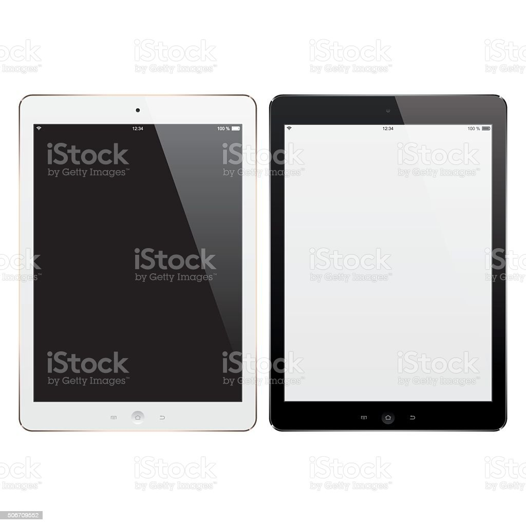 Vector Digital Tablets with Blank Screen vector art illustration