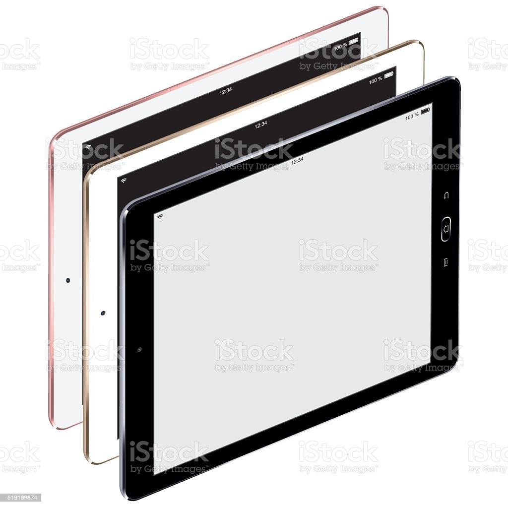 Vector Digital Tablets with Blank Screen vector art illustration
