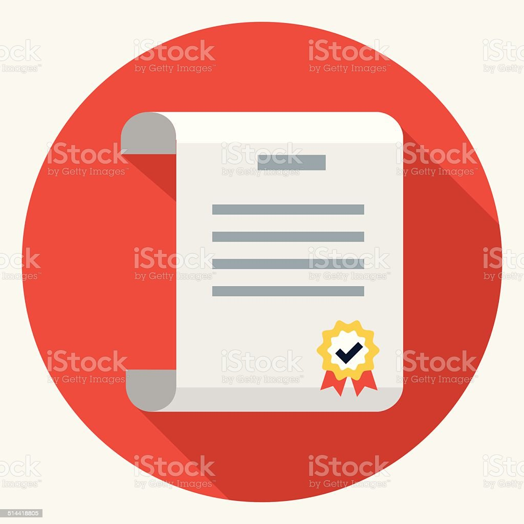 Vector diploma icon vector art illustration