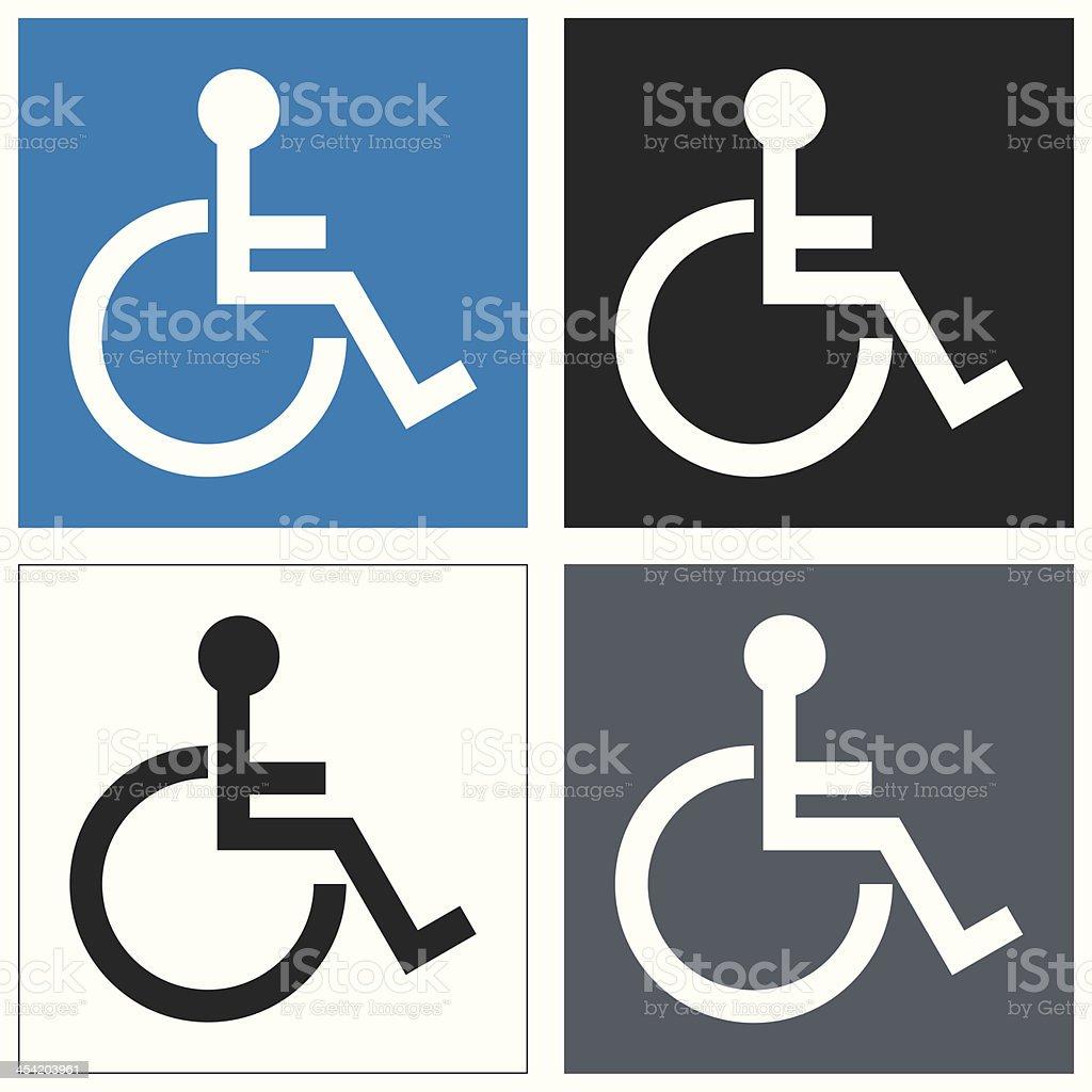 vector disable icon set vector art illustration