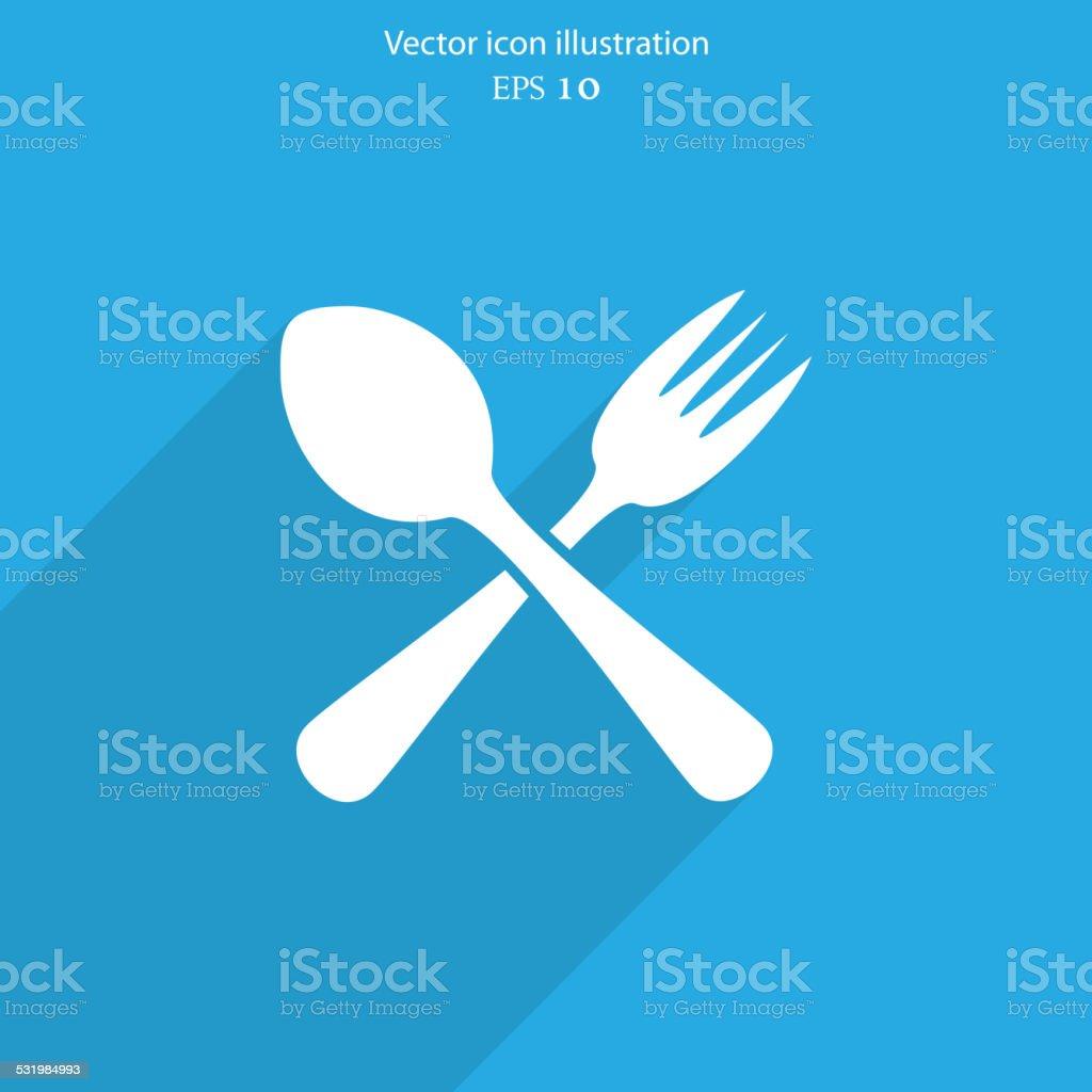 Vector disware and cutlery web icon vector art illustration