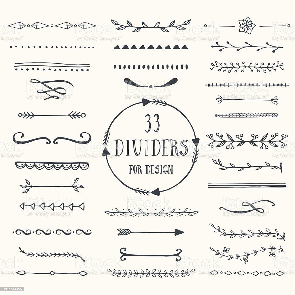 Vector dividers vector art illustration