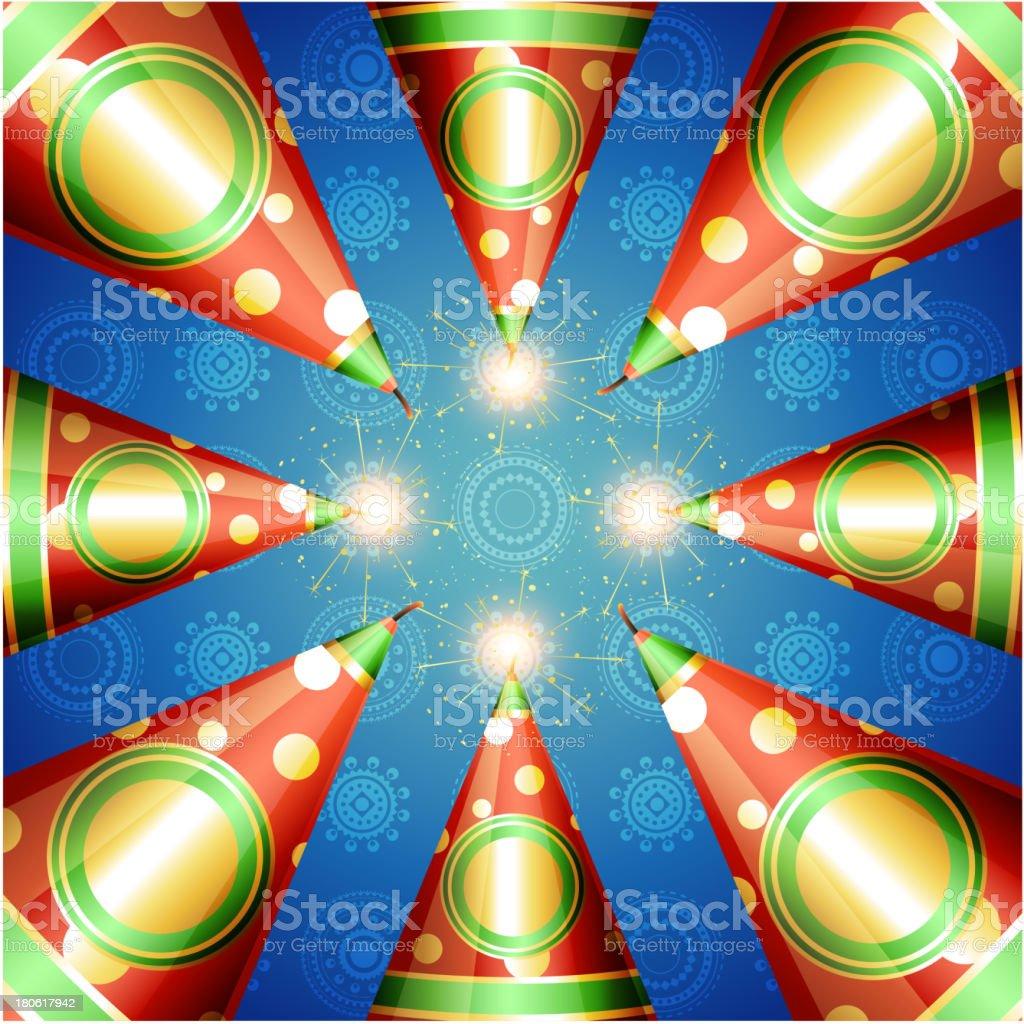 vector diwali cracker royalty-free stock vector art
