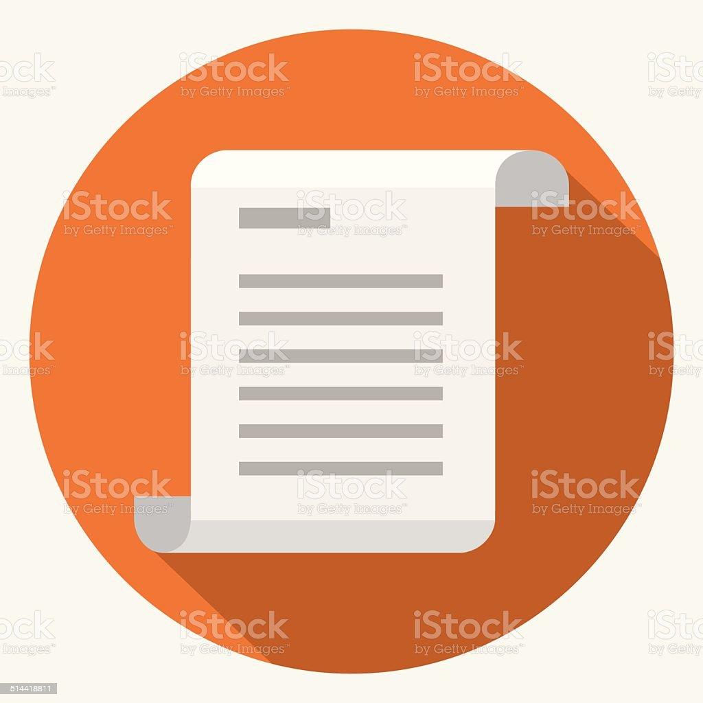 Vector document icon vector art illustration