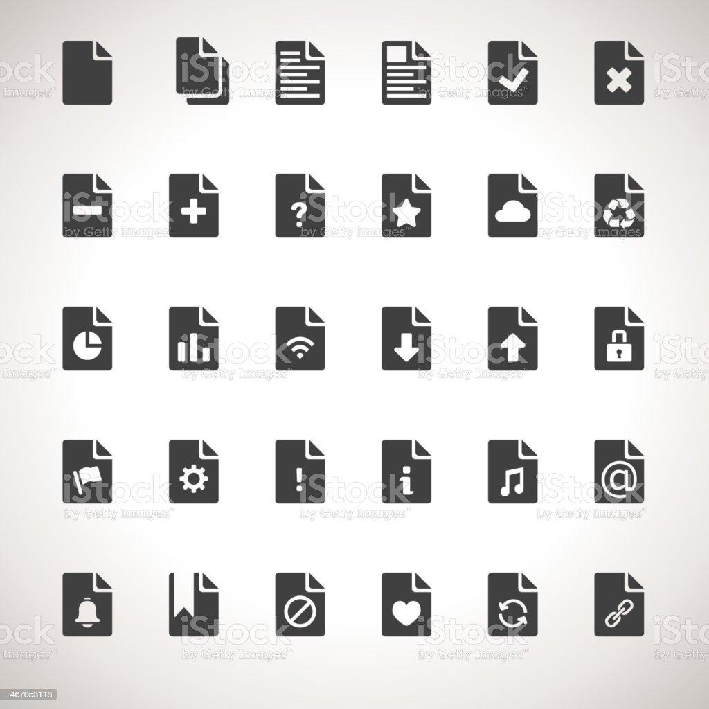 Vector Documents Icon Set vector art illustration