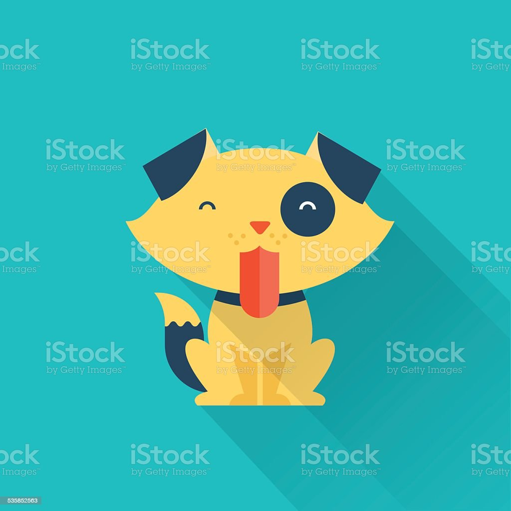 Vector Dog vector art illustration