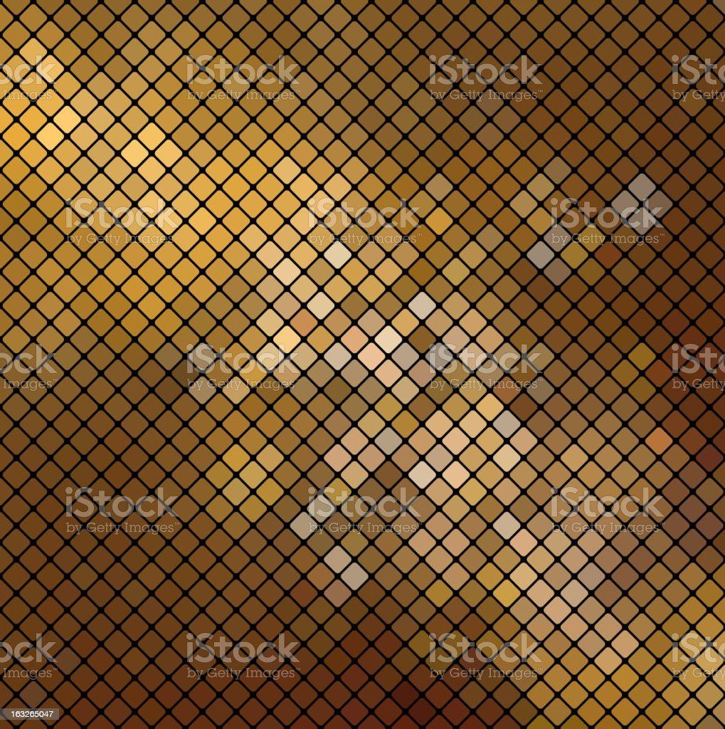 Vector dolden mosaic vector art illustration