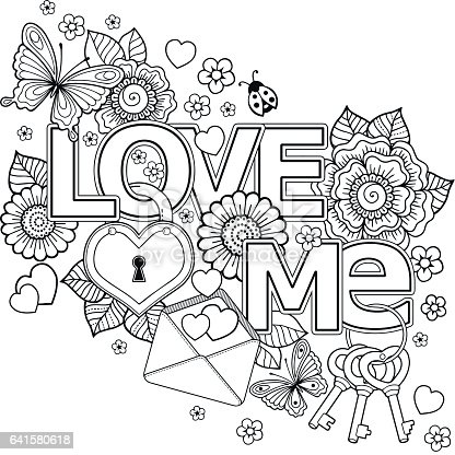 Vector Doodle Pattern For Coloring Book For Adult Black