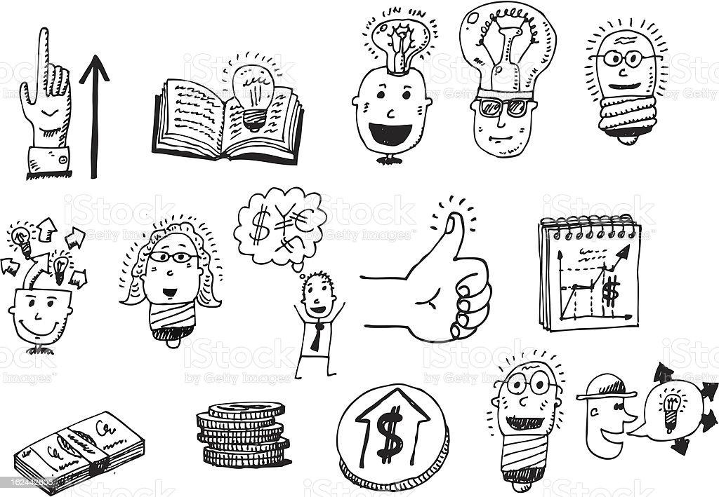 vector doodle set royalty-free stock vector art