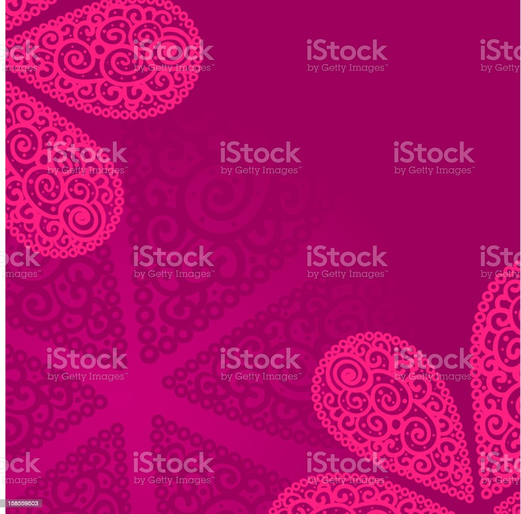 Vector doodle twirl flowers background royalty-free stock vector art