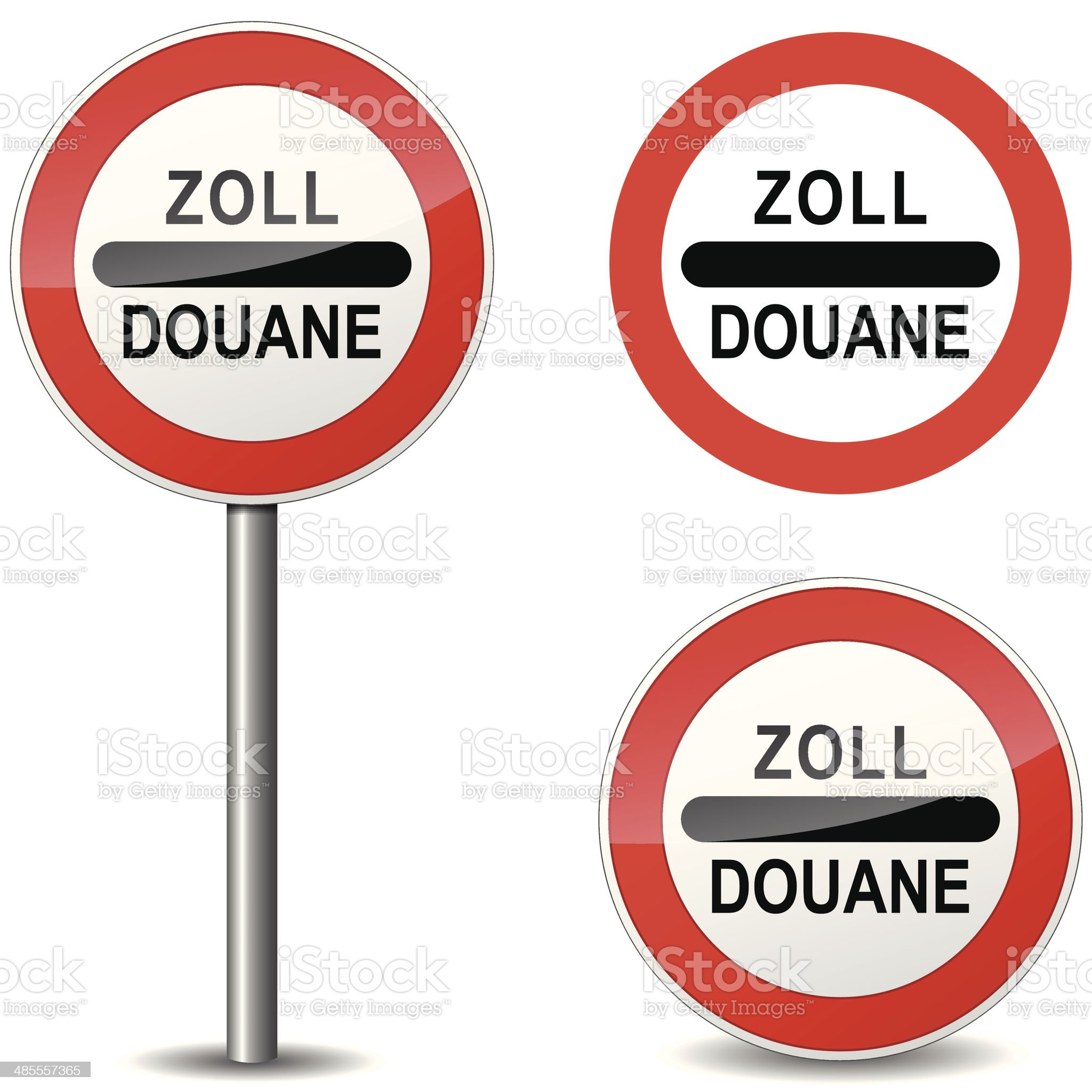 Vector douane sign royalty-free stock vector art