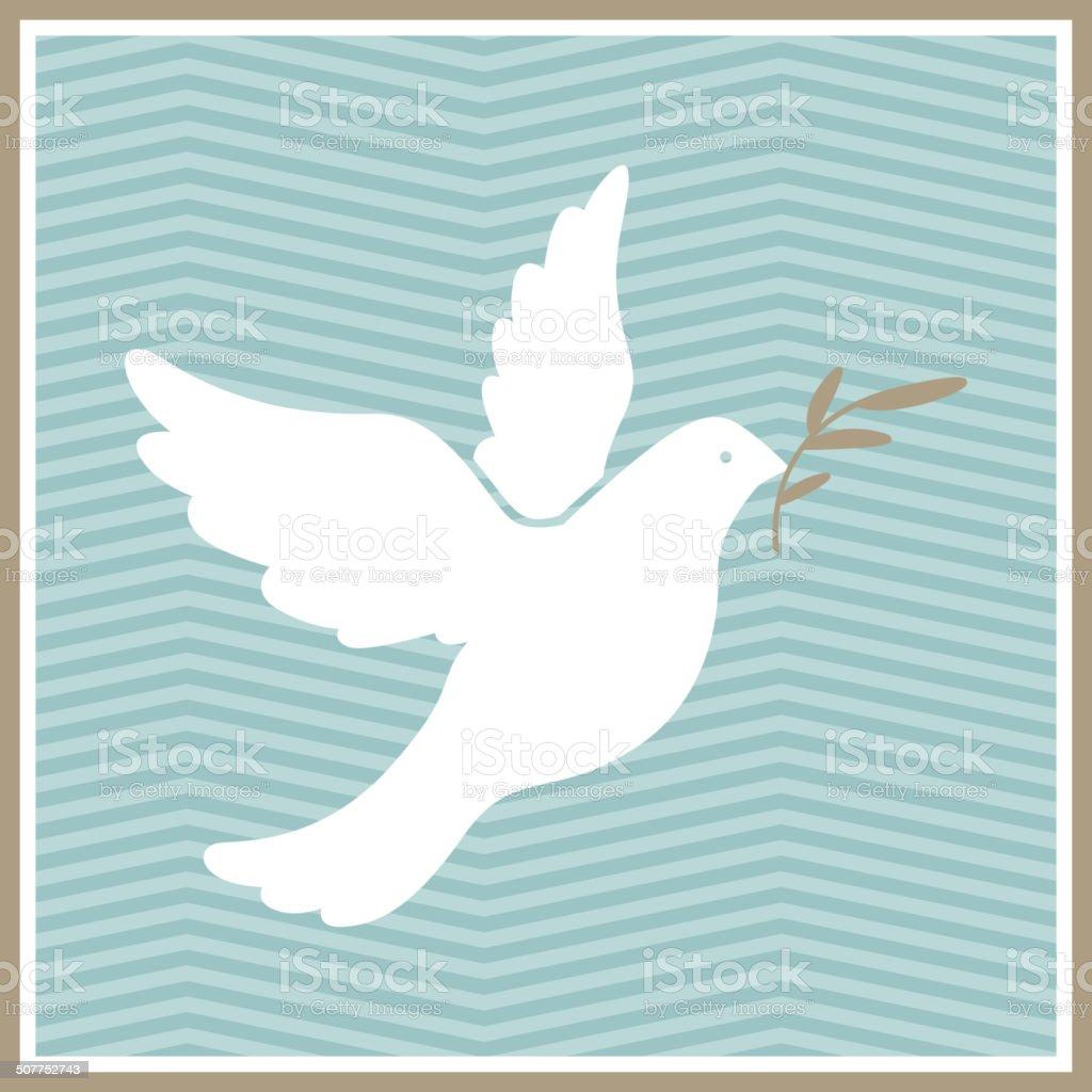 Vector Dove of Peace vector art illustration