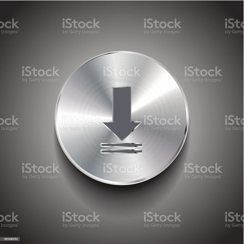 Vector download button royalty-free stock vector art
