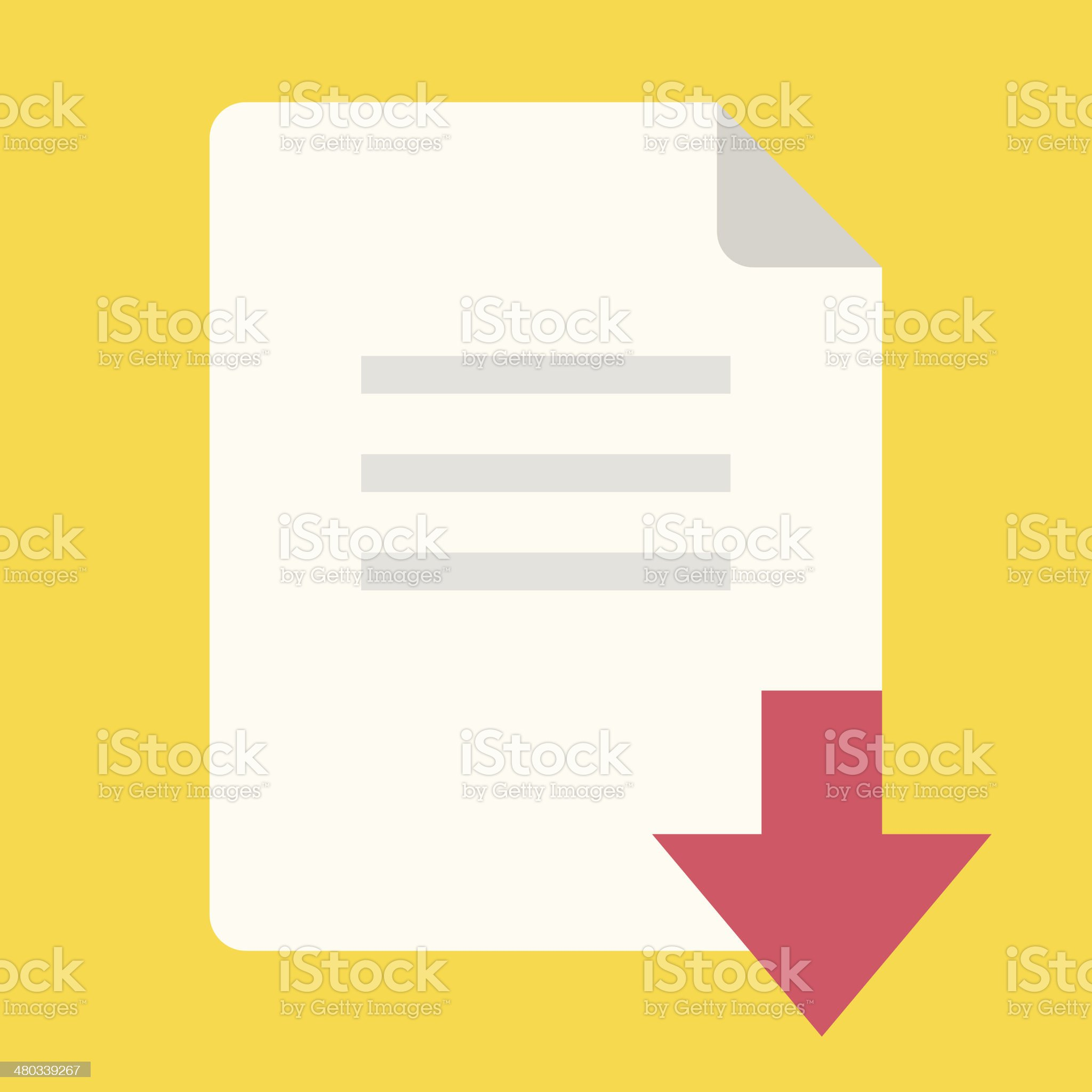 Vector Download File Icon royalty-free stock vector art