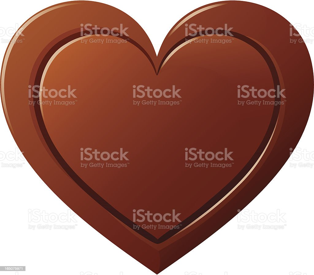 Vector drawing of a heart, from chocolate vector art illustration