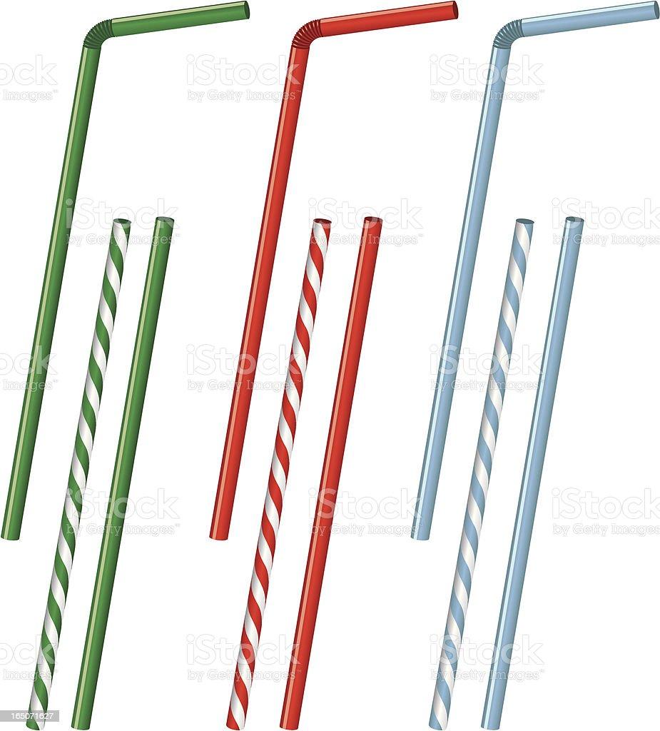 Vector Drinking Straws vector art illustration
