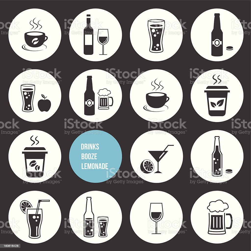 Vector Drinks Icons Set royalty-free stock vector art