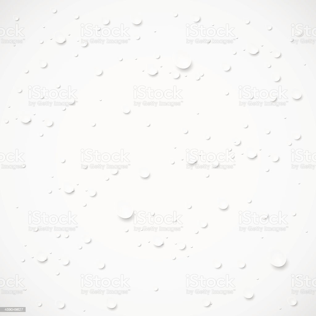 Vector drops on gray background. Eps 10 vector art illustration