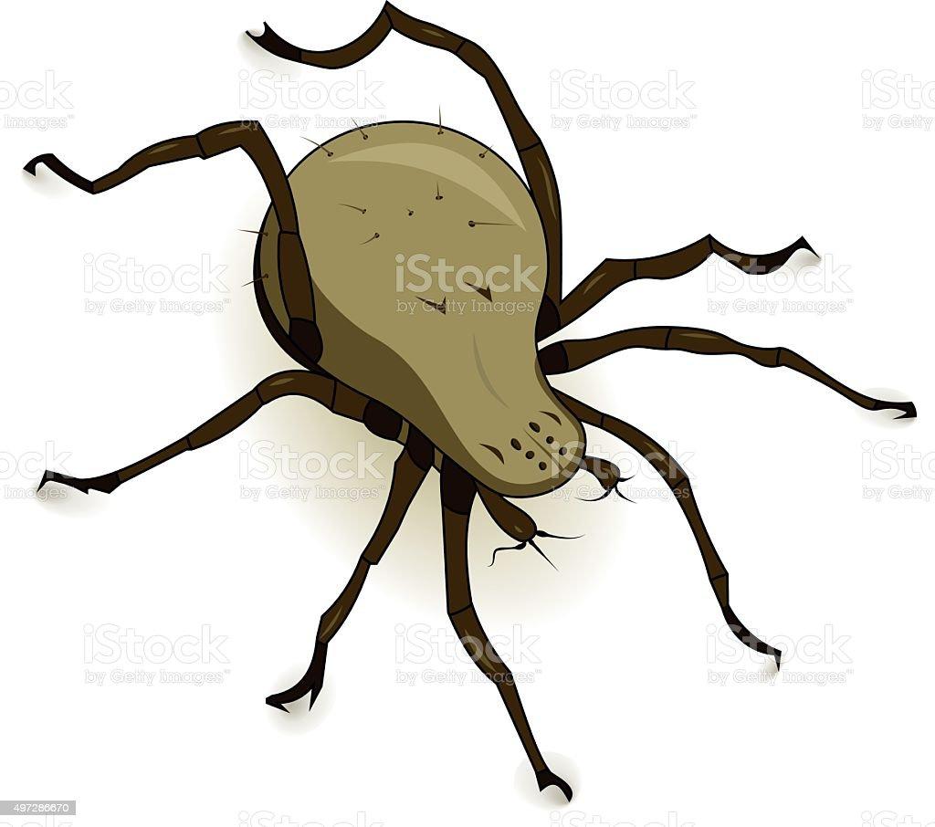 Vector Dust Mite Parasite vector art illustration