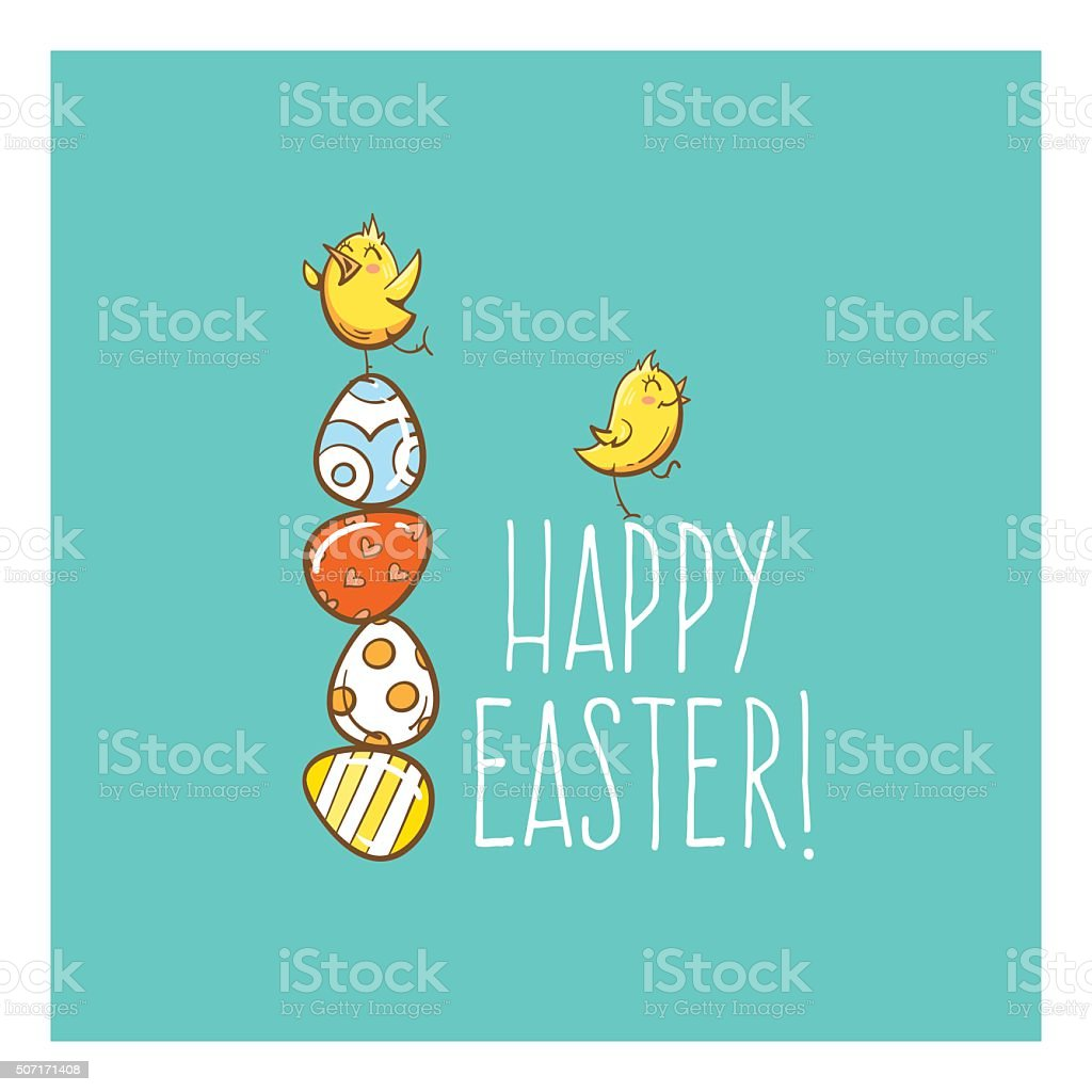 Vector easter card. vector art illustration