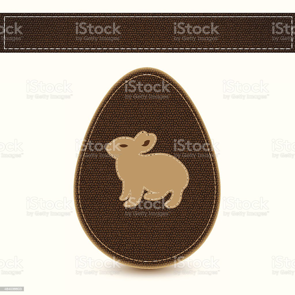Vector easter egg sewn leather sample royalty-free stock vector art