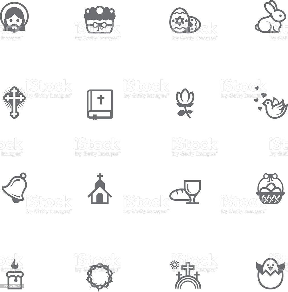 Vector Easter icon set vector art illustration