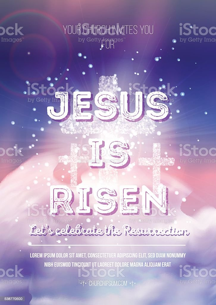vector Easter religious poster template with transparency and gradient mesh vector art illustration