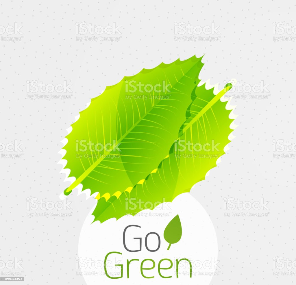 Vector ecology and nature conservation background royalty-free stock vector art