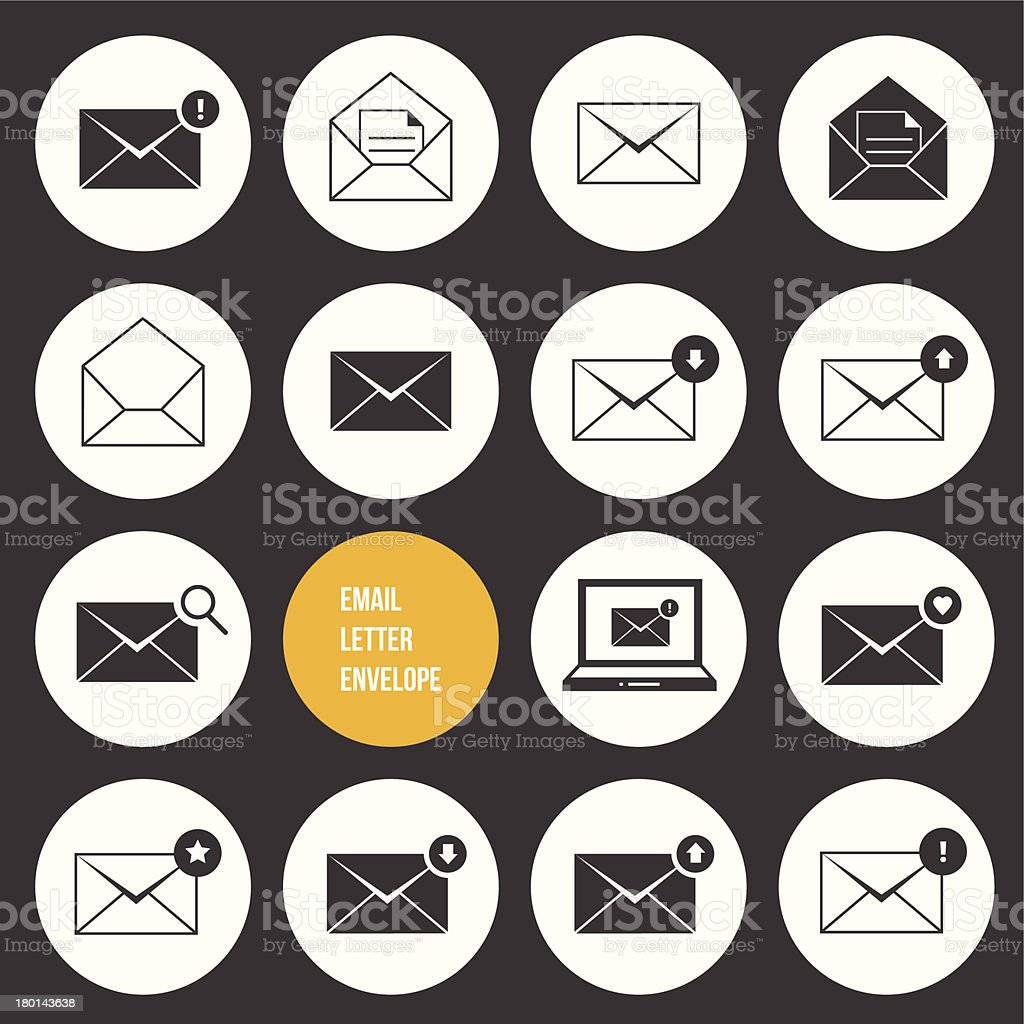 Vector Ecommerce Business Shopping and Other Icons for Email royalty-free stock vector art