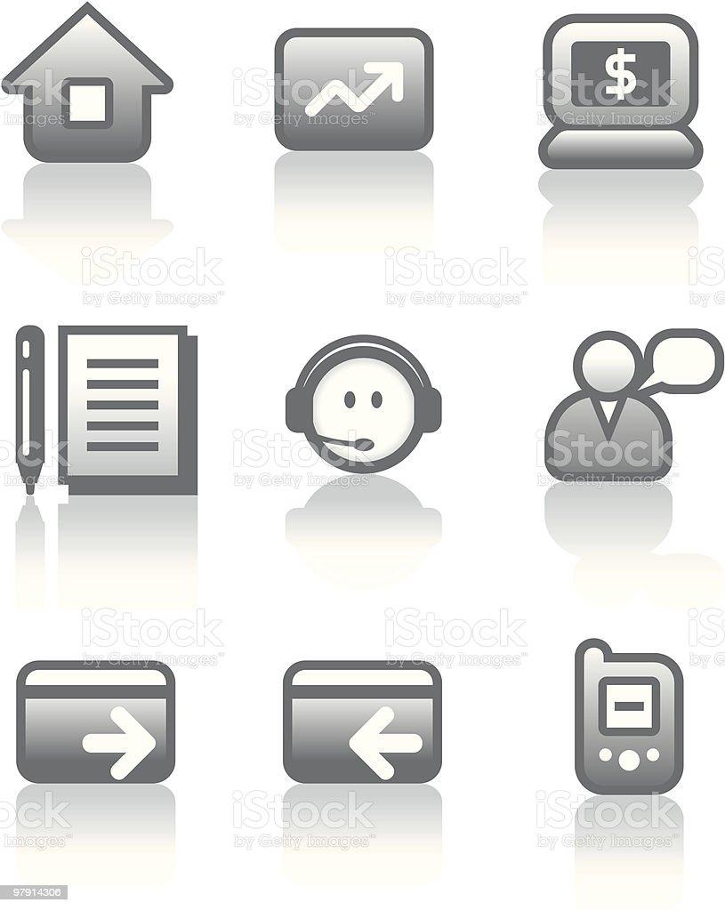 Vector e-commerce web icons set royalty-free stock vector art