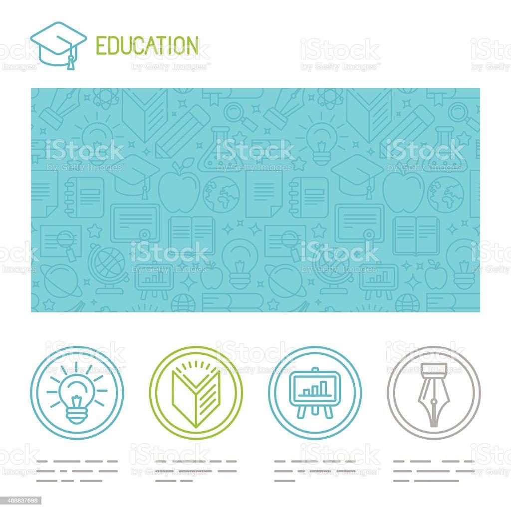 Vector educational design template vector art illustration