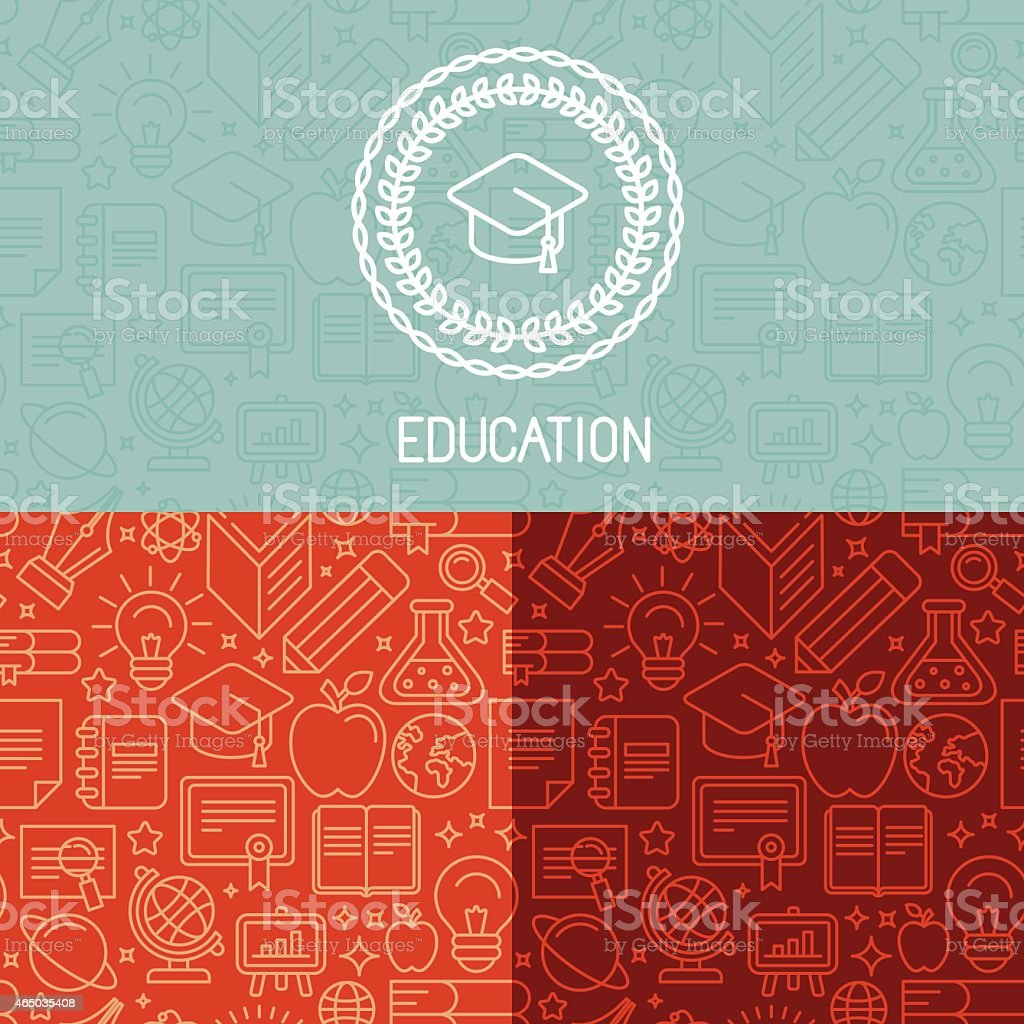 Vector educational logo design vector art illustration