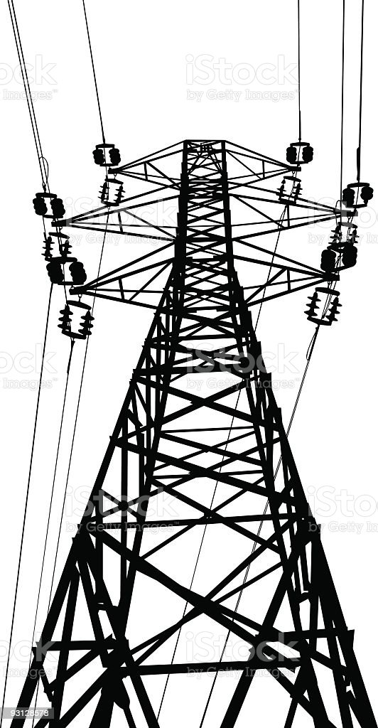 Vector electrical pylon royalty-free stock vector art
