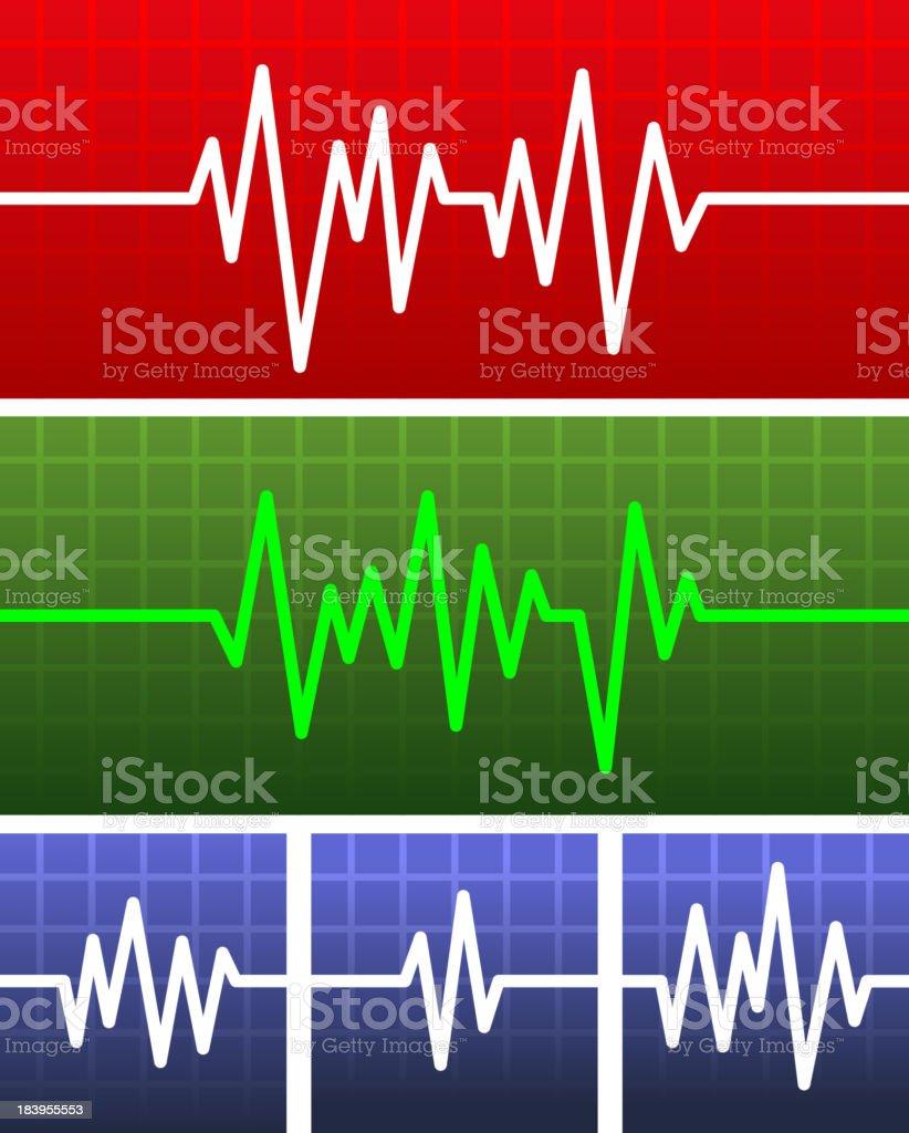 Vector Electrocardiogram royalty-free stock vector art