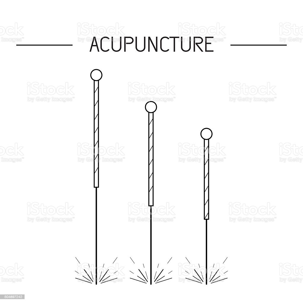 vector elements for acupuncture and massage, TCM 01 vector art illustration