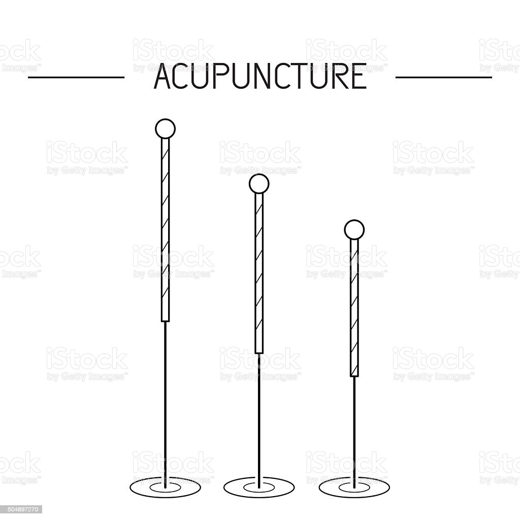 vector elements for acupuncture and massage, TCM 02 vector art illustration