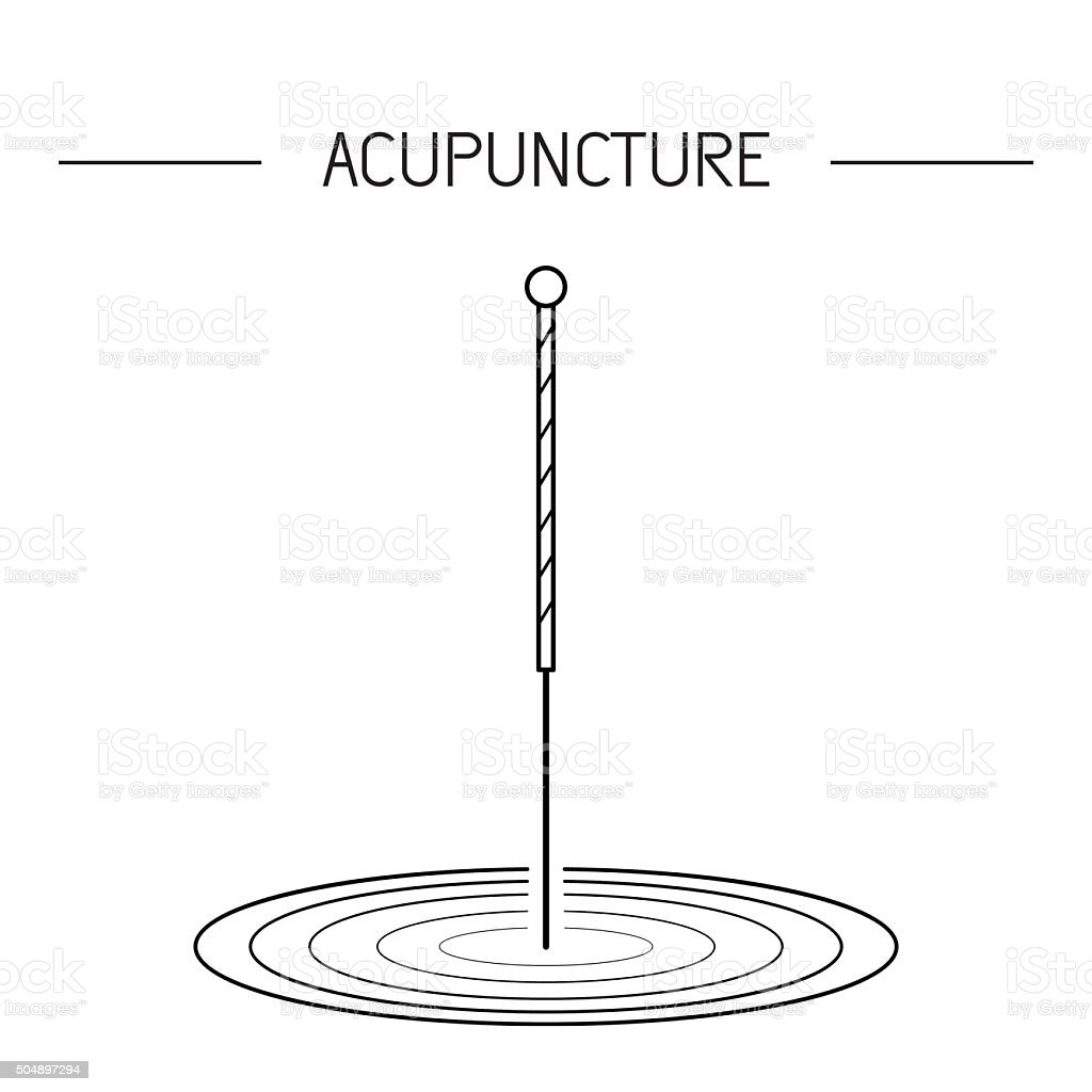 vector elements for acupuncture and massage, TCM 03 vector art illustration