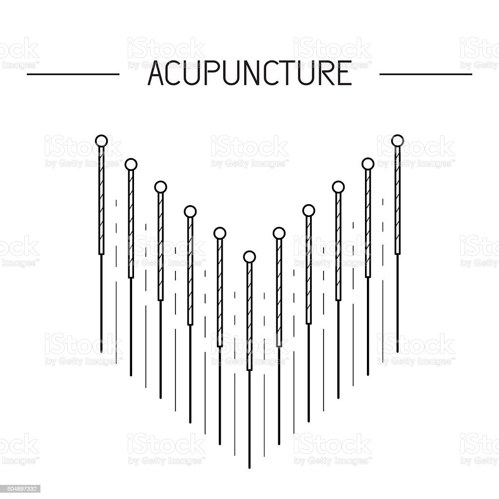vector elements for acupuncture and massage, TCM 04 vector art illustration