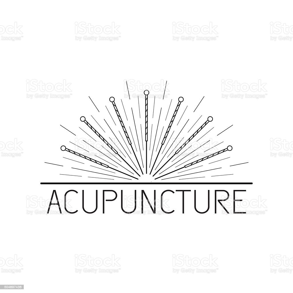 vector elements for acupuncture and massage, TCM 07 vector art illustration