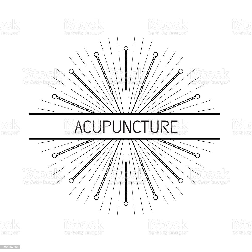 vector elements for acupuncture and massage, TCM 08 vector art illustration