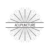 vector elements for acupuncture and massage, TCM 08