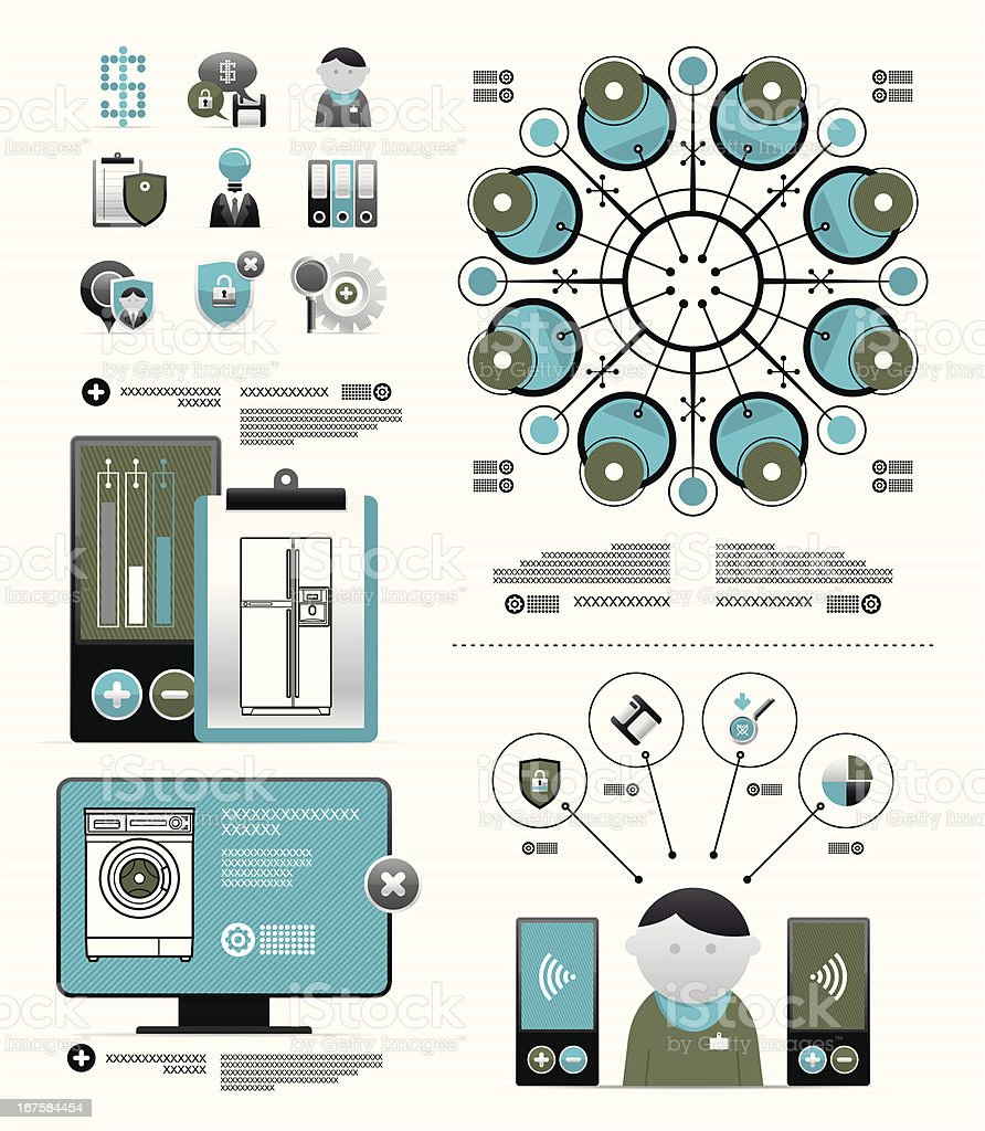 vector elements for newspaper infographic royalty-free stock vector art
