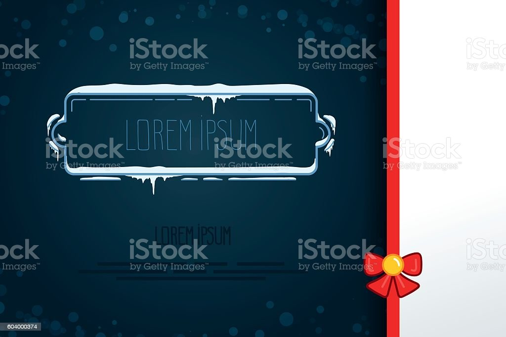 vector elements in winter style. hand drawn frames with snow. vector art illustration