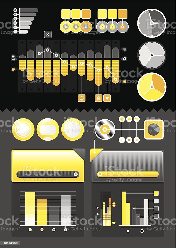 vector elements of infographics royalty-free stock vector art