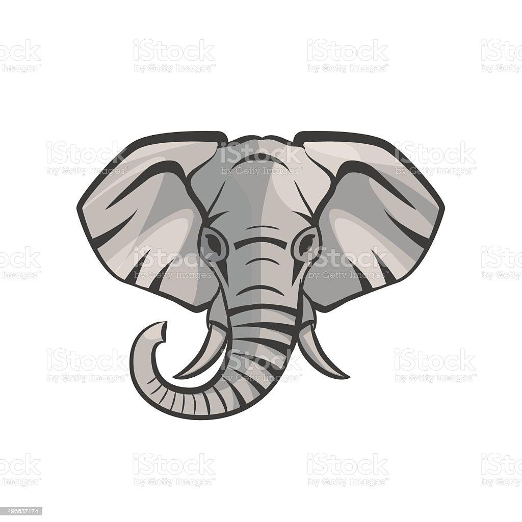 Vector Elephant portrait vector art illustration