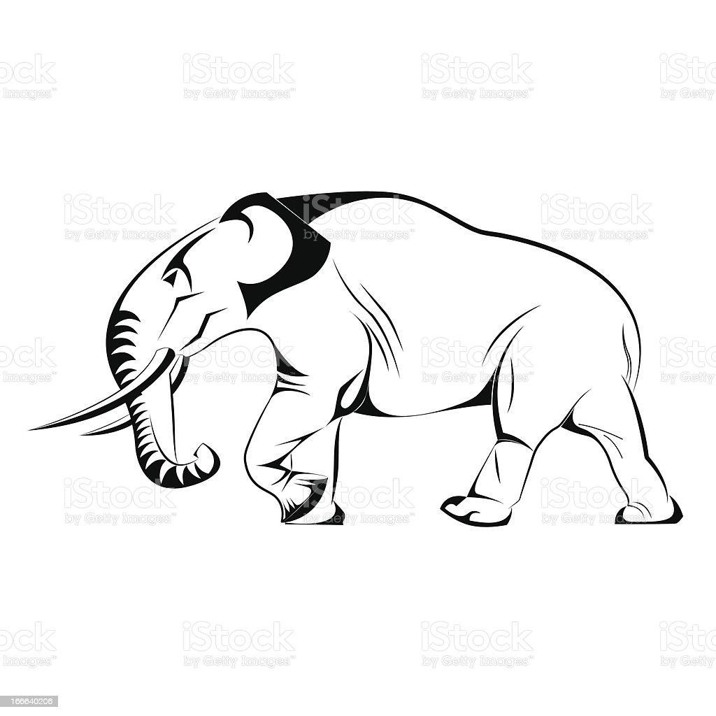Vector elephant vector art illustration